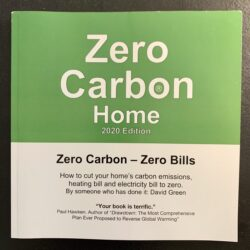 Book energy efficiency Zero Carbon Home 2020 edition from cover