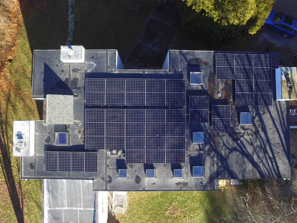 Our zero carbon, or net zero energy, house from above