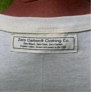 Men's zero carbon footprint T shirt label