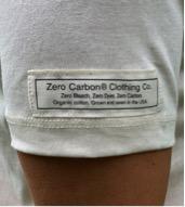 Women's zero-carbon T-shirt label